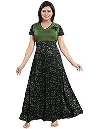 TUCUTE Womens Girls Beautiful Print Nighty Nightwear with Full Flare 40fe8e232
