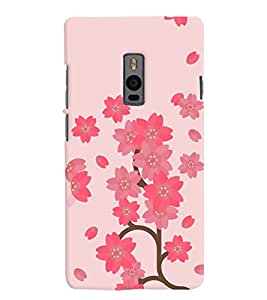 Chiraiyaa Designer Printed Premium Back Cover Case for OnePlus Two 1+2 (Flower Pattern) (Multicolor)