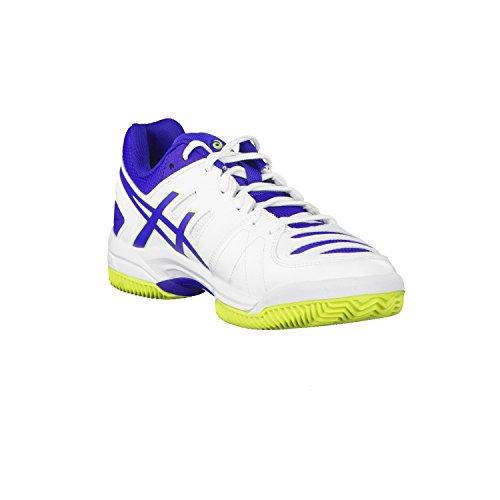 Asics chaussures de tennis pour homme 4 gel dedicate e508Y clay weiß / blau / lime