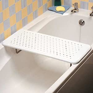 Homecraft Alton Bath Board, Sturdy Shower Chair for Increased Independence, Heavy Duty Bathroom Accessory Seat for Transfer to & from Baths and Showers, Bariatric Rated Bath Bench with Drainage Holes