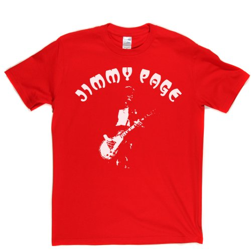 Jimmy Page 1 English Guitarist Legend T-shirt Rot