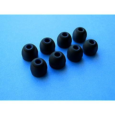 8 piezas (B)- Medio (M) Reemplazo Olivas Almohadillas Orejas Tapones de Repuesto Set para Jaybird Bluebuds X Premium Bluetooth Auriculares In-Ear Intrauriculares