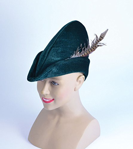 Robin Hood Hat aus weichem Filz Hat Zubehör für Mittelalter Mittelalter Fancy Kleid (Hood Kostüme Dress Robin Fancy)