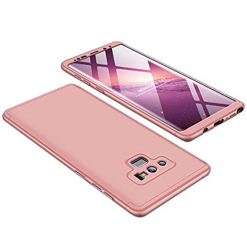 Misstars 3 in 1 Hart PC Hülle für Galaxy Note 9, Ultra Dünn Matt Handyhülle Slim Fit Anti-Scratch Stoßfest Schutzhülle für Samsung Galaxy Note 9, Rose Gold