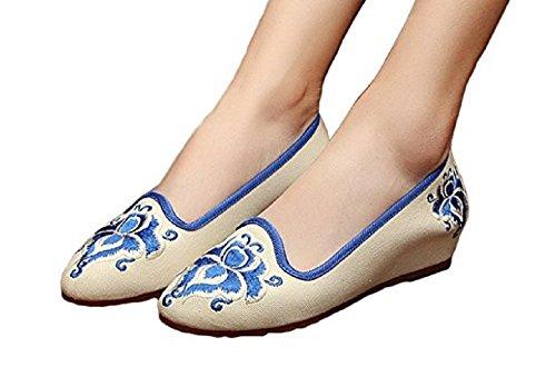 Tianrui Crown , Sandales Plateforme femme Beige