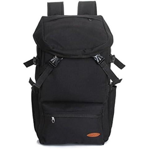 Moda borsa viaggi all'aria aperta, escursionismo il Big bag , black