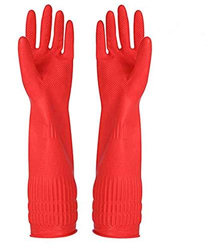 - putzen handschuhe küche geschirr handschuh, wasserdicht reuseable lange ärmel gartenhandschuhe frauen 1pair (Handschuhe Rot Geschirrspülmittel)
