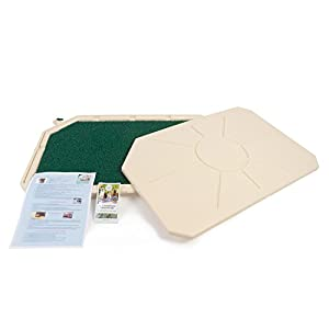 Piddle Place Base Unit with Cover, with Turf Pad & Sachet of Bio+ Treatment Concentrate 16