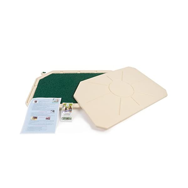 Piddle Place Base Unit with Cover, with Turf Pad & Sachet of Bio+ Treatment Concentrate 1