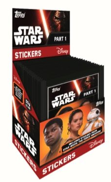 STAR WARS Autocollants à Collectionner - Topps La Force Série 1 Éveille - Box (50 Paquets)