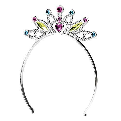 Boland 44080 Haarreif mit Krone Mabel für Kinder, Silber