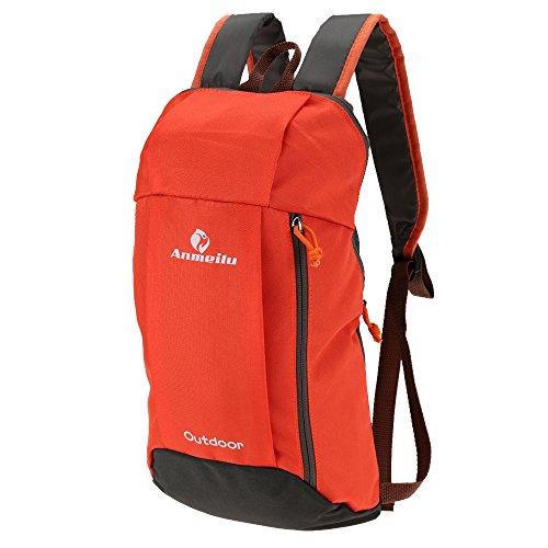 Inovey 10L Outdoor Spalla Zainetto Unisex Borsa Morbida Sport Campeggio Escursionismo-Nero Verde Rosso