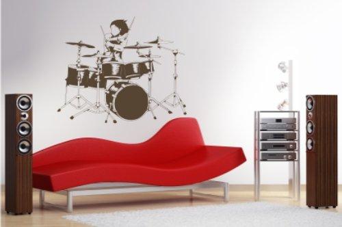 """Wandtattoo """"Drumer"""", 70x58 + Rakel von mldigitaldesign"""