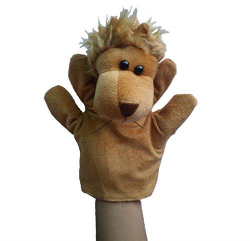 Udane Soft Puppe Puppen Spielzeug Afrikanischer Dschungel Tierpuppe Plüsch Handpuppe Spielzeug (Löwe)