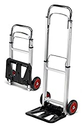 TrutzHolm® Alu Sackkarre klappbar Transportkarre Stapelkarre Handkarre Karre (90 kg)