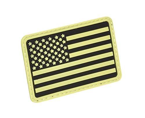 SA Flag Left Arm Morale Patch Glow in the Dark, PAT-L-YLO ()
