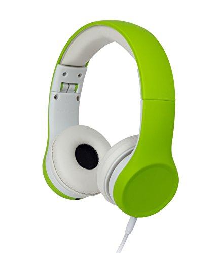 Snug Play+ Cuffie per Bambini con Limitazione del Volume e Condivisione Musica (Verde)