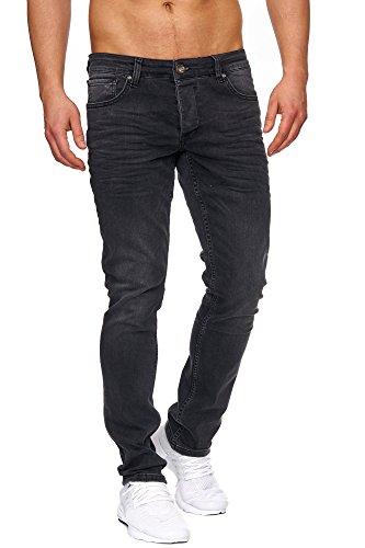 TAZZIO Slim Fit Herren Styler Look Stretch Jeans Hose Denim 16533 Schwarz