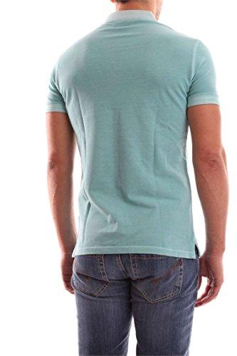 Armani Jeans Herren Gewaschene Pique Polo-Shirt Grün Grün