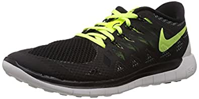 Nike Men's Free 5.0 Black,Volt,Dark Magnet Grey,Summit White Running Shoes -7 UK/India (41 EU)(8 US)