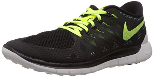 Nike Free 5 0, Chaussures de running mixte adulte Noir (Black/Volt-Dark Magnet Grey-Summit White)