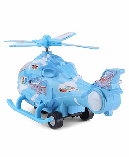 Zest 4 Toyz Musical Force Helicopter Toy, Bump and Go Action, Lights and Music, Blue  available at amazon for Rs.250