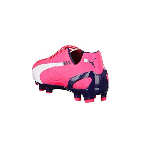 Puma  evoSPEED 4.3 FG, Chaussures de football homme Rot (bright plasma-white-peacoat 04)