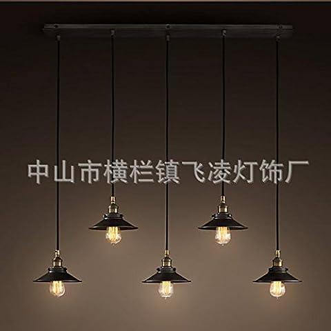 LLYY-Candelabros de hierro forjado pequeño paraguas negro (sin luz) 5 long plates