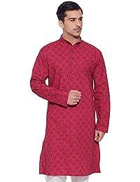 Men Full Sleeve Designer Cotton Long Kurta Casual Wear Printed Kurta