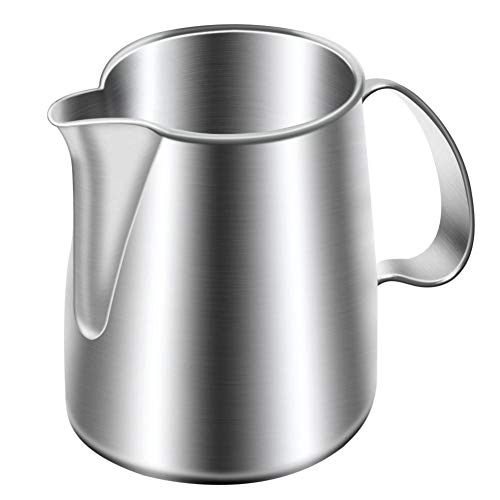 Stainless Steel Milk Frothing Jug Stainless Steel Milk Bubble Coffee Pitcher Espresso Machines Foam Pitcher Cup to Coffee Lovers