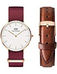 10704270adfa Daniel Wellington Analogue White Dial Unisex Watch   Strap Combo  (DW00500150)
