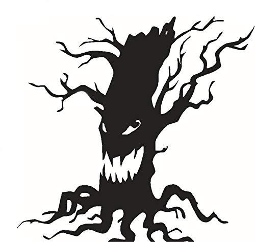 (ShopSquare64 Kreative Halloween Ghost Baum PVC Wasserdichte Wandaufkleber Abnehmbare Vinyl Kunstwand Dekoration Aufkleber Umweltschutz Halloween Wandaufkleber Fenster Dekoration Aufkleber Dekor)
