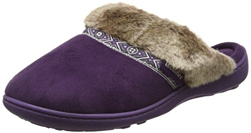 isotoner-women-pillowstep-with-fur-cuff-and-tape-trim-open-back-slippers-purple-purple-4-uk-37-eu