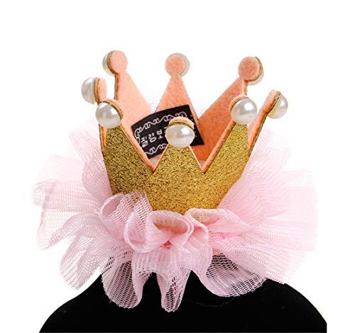 Tianba Haustierhut Prinzessin Krone Spitze Perle Tiara Haarspange Langhaariger Hund General Katze Und Hund Headwear