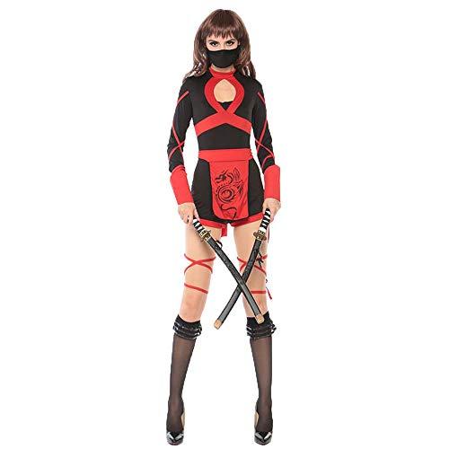 Kostüm Krieger Frauen Ninja - CAGYMJ Retro Kleidung Damenrock Kleid,Cosplay Anime Kurzer Rock Sexy Frau Krieger Ninja,Halloween Maskerade Festival Themenparty Karneval,M