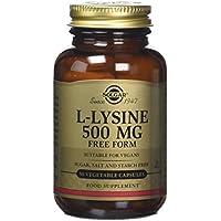 Solgar 500 mg L-Lysine Vegetable Capsules - 50 Capsules