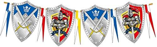 Folat NEU Wimpelkette Ritter & Wappen, 6 - Ritter Der Tafelrunde Kinder Kostüm