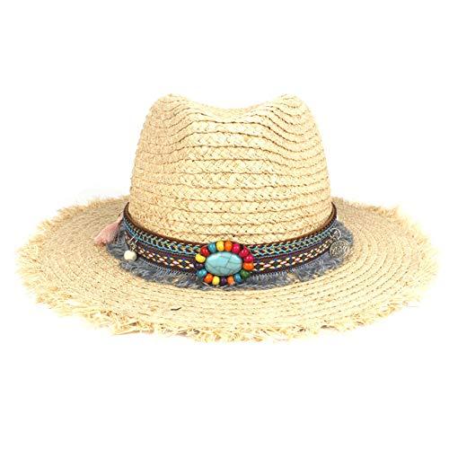 zlhcich Playa Sombreros de Sol Sombrero de Sol Playa de Sol para el Invierno Otoño Caballero Dama Jazz Vaquera Punk Remache Cloche Iglesia Sombrero Sombrero Grou Rojo