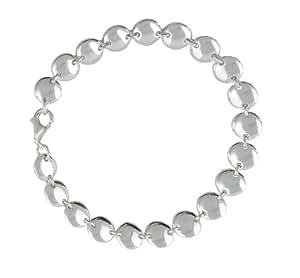 Instinct Silver 104 High Polished Button Bracelet 19cm