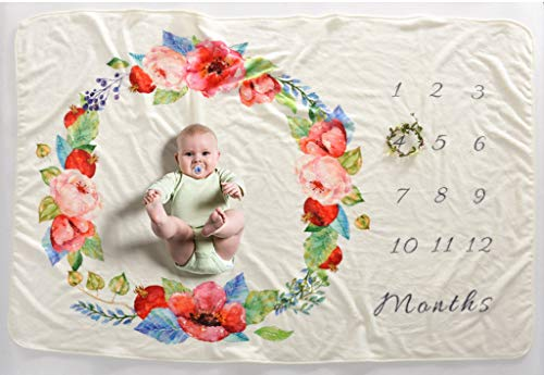 LY-LD Baby Monatsmilestone Growing Blanket Neugeborene Säuglings-Beglant DIY Photography Hintergrund Props personalisiert Keepsake Best Gifts for Baby,A,102X152cm (Props Diy Photography)