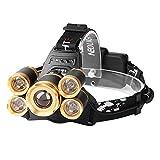 Stirnlampe Wiederaufladbar, Neolight Kopflampe LED Wasserdicht 4 Modi inkl. USB Kabel, Ideal für Wandern/Camping/Spazieren /Joggen/Angeln/Klettern