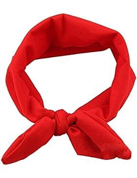 TOOGOO(R) Rojo Banda de cabeza de Nina Bebe Tocado de Ninito Banda de pelo de hijo elastica