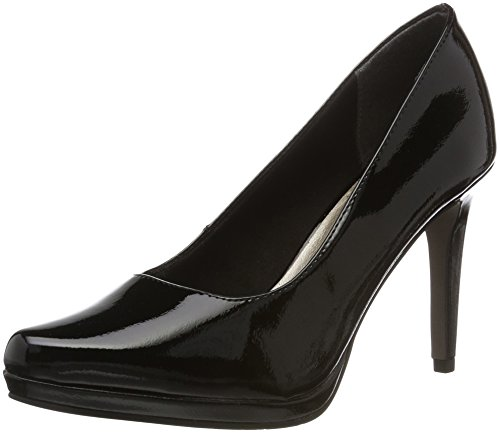 Tamaris Damen 22448 Pumps, Schwarz (Black Patent 018), 38 EU