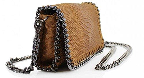 Leahward® Chain Trim Vera Pelle Italiana Cross Bag Bulk Brand Simpatici Borse Vps00 Pelle Di Serpente Marino