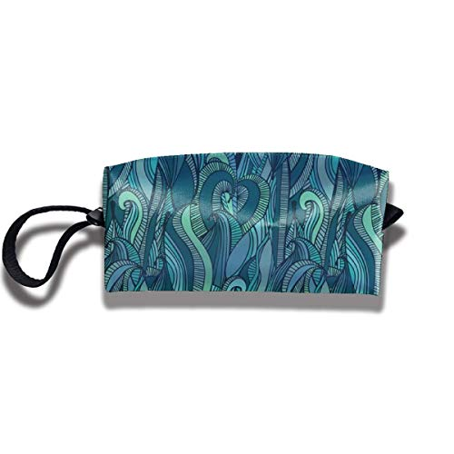Pencil Bag Makeup Bag Zusammenfassung Ocean Waves Tolietry Taschen Frauen Kosmetiktasche Multifuncition Zipper - Hawaiian Wave