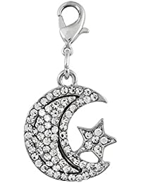ENT Encanto de luna y estrella con brillo - art. EL28086 - Lon. 3,8 cm - Anc. 2 cm - Alt. 0,5 cm - Ten by Varotto & Co.