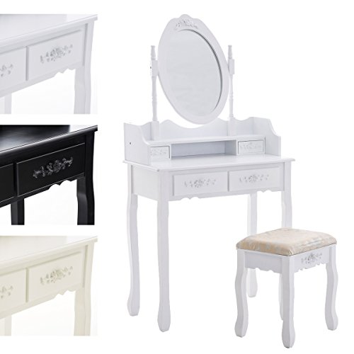 CLP-Tocador-romntico-FUCSIA-con-espejo-y-taburete-tapizado-y-acolchado-en-estilo-colonial