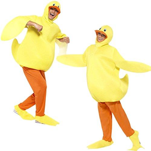 Imagen de disfraz de pato traje completo patito unisex vestido de carnaval polluelo atuendo animal pájaro ropa carnavalera ave disfraz divertido de adulto