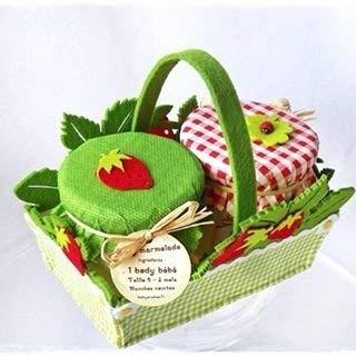French Fraise Body bébé Ensemble cadeau - fabriqué à la main par le Boîte cadeau - Mixte et parfaite pour. seul bébé ou jumeaux