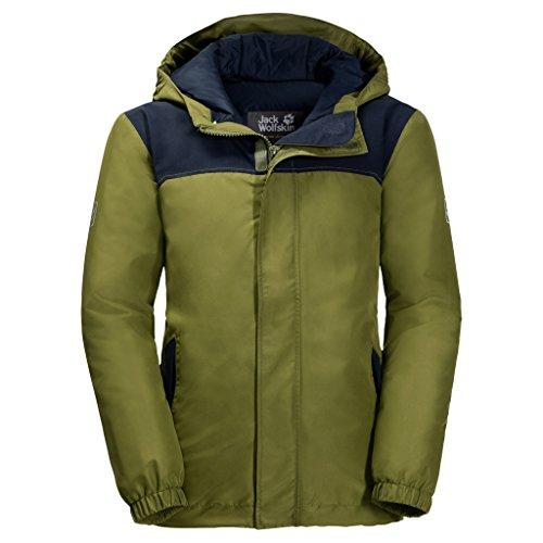 Jack Wolfskin Kinder B KAJAK Falls JKT Winterjacke Wind-und wasserabweisend Atmungsaktiv Wetterschutzjacke, Cypress grün, 152